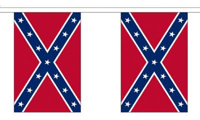 CONFEDERATE BUNTING - 18 METRES 30 FLAGS